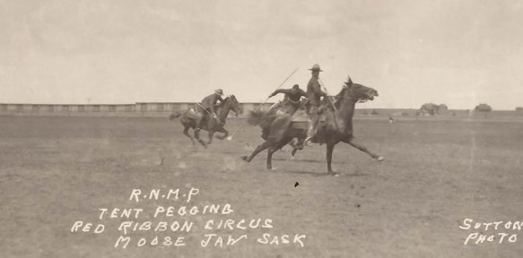 Photograph of 1915 RNWMP Musical Ride at Moose Jaw Red Ribbon Circus