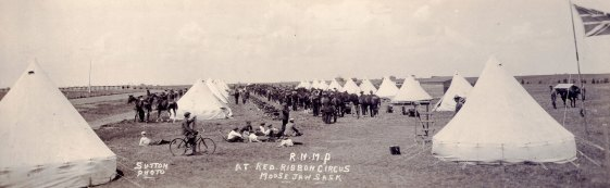 Photograph of the 1915 RNWMP Musical Ride at Moose Jaw Red Ribbon Circus