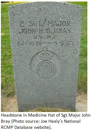 Photograph of John Bray's gravestone