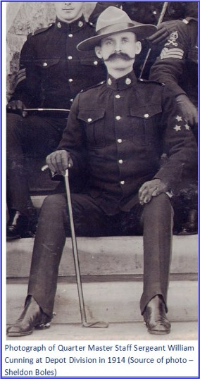 Photograph of WIlliam Cunning in 1914 at Depot Division