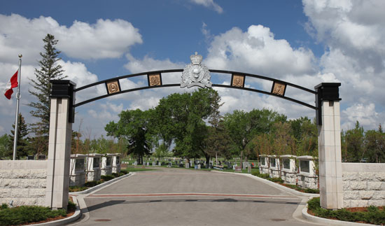 "Photograph of the RCMP ""Depot"" Division Cemetery main entrance. (Source of photo - Sheldon Boles)."