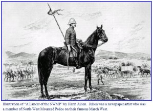Illustration of NWMP member on the famous March West in 1874