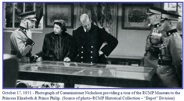 "Photograph of Princess Elizabeth and Prince Charles at ""Depot"" Division in Regina, Sask."