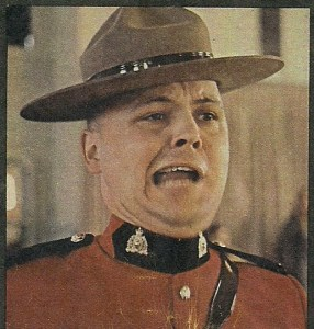Photograph of Cpl. Schrumm - Depot Drill Instructor in 1971 at RCMP Depot