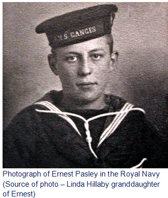 69e00ed9fc72b Photograph of Ernest Pasley in the Royal Navy