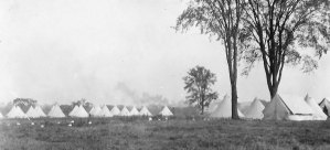 Photograph of RCMP Sandy Hill camp in Ottawa