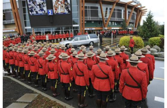 Photograph from RCMP Constable Adrian Oliver's funeral service