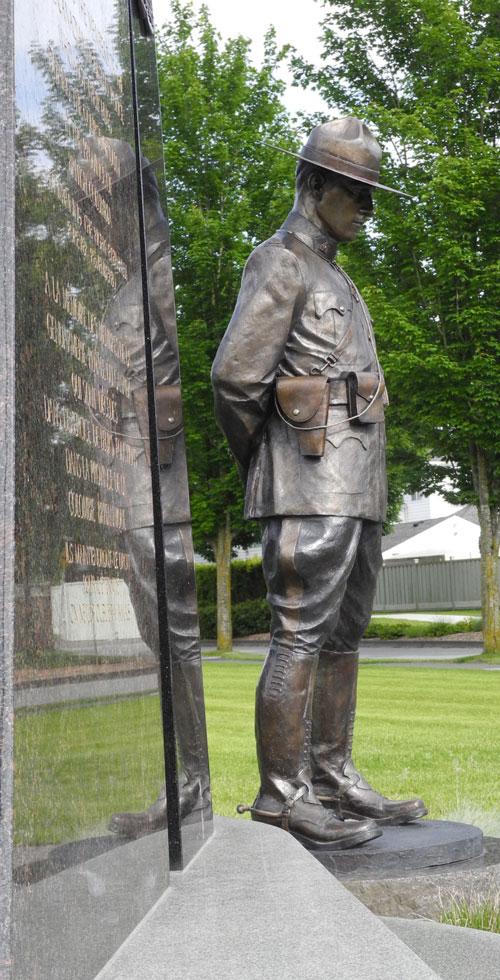 Photograph of E Division memorial for fallen RCMP members