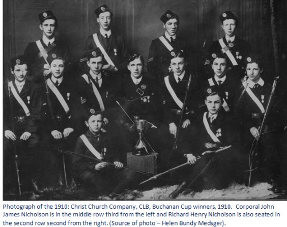 Photograph of John and Richard Nicholson as young boys in Ireland