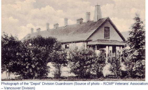 "Photograph of the RNWMP ""Depot"" Division Guardroom in Regina."