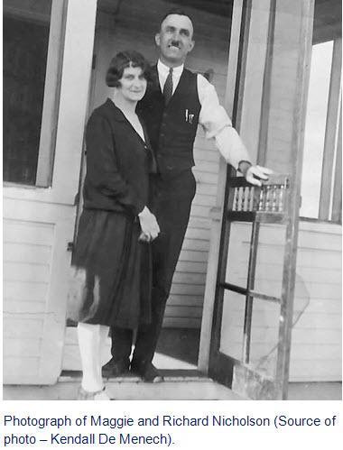 Photograph of Maggie and Richard Nicholson