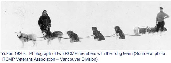 1920s RCMP Dog sled team