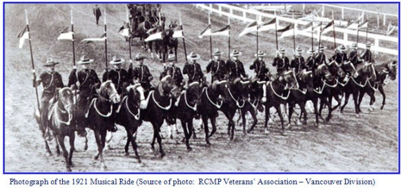 RCMP Musical Ride in 1921