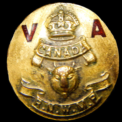 """Photograph of an early Royal Northwest Mounted Police Veterans Association Lapel Badge (Source of photo - from the """"D. Laird Allan collection)."""