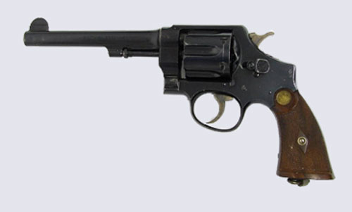 Photograph of a Smith & Wesson Model .455 Caliber.