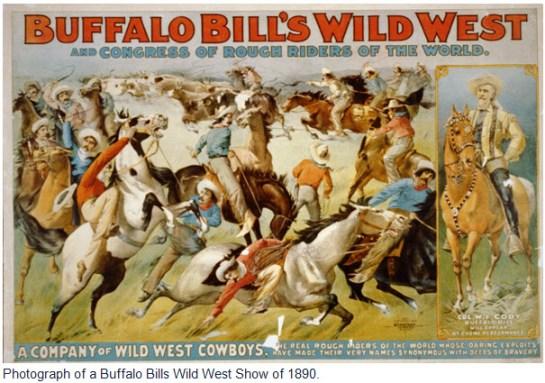 Photograph of a Buffalo Bills Wild West Shop poster