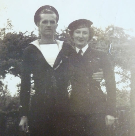 Photograph of Kay and Bill Rawlings during World War II (Source of photo - Ric Hall's Photo Collection)