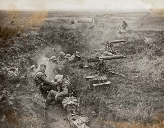 Canadian's in the trenches near Ypres Belgium (Source of photo - RCMP Veterans' Association - Vancouver Division's Photo Collection)