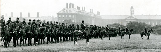 "Photograph of RWNMP members in England for the correnation of King George V (Source of photo - RCMP Historical Collections Unit - ""Depot"" Division)."