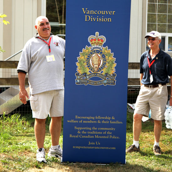 Photographs of the Vancouver Division's Centennial Sign on display at the picnic