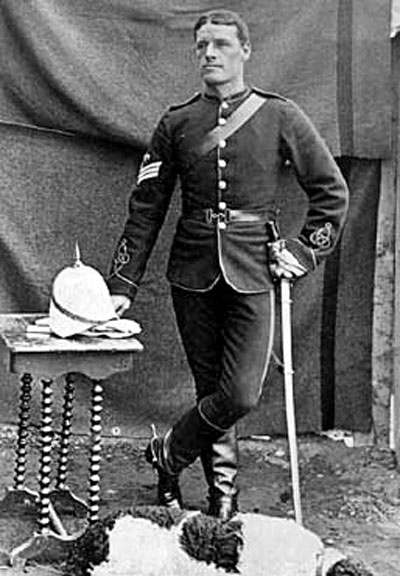 Photograph of NWMP Sergeant Fred Bagley (Source of photo - Ric Hall's Photo Collection).