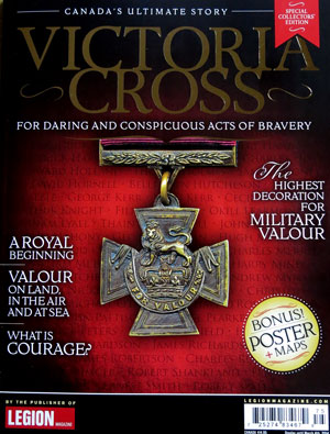 "Photograph of the cover of the Royal Canadian Legion book entitled - ""Victoria Cross - For Daring And Conspicuous Acts Of Bravery."