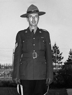 Photograph of Hugh Russell at RCMP Cloverdale Detachment (Source of photo - Steve Gibson)