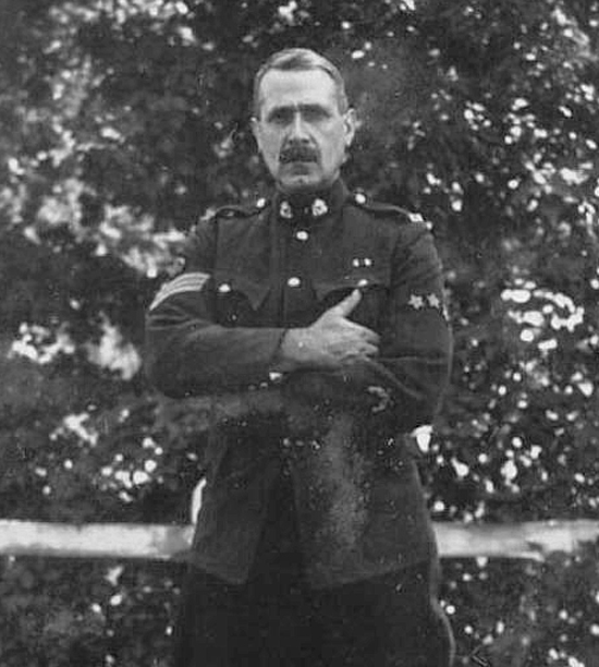 Photograph of Sgt. Frank Pearson (Source of photo - Ric Hall's Photo Collection).