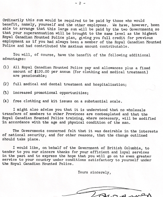 Ric halls photo corner rcmp veterans association vancouver division letter to bcpp members 1950page3 solutioingenieria Gallery
