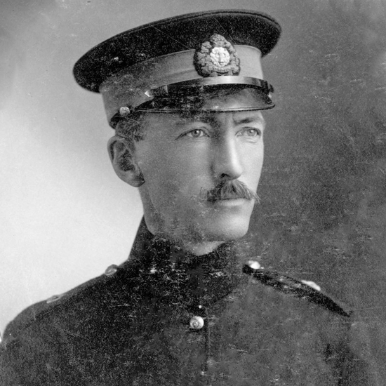 """1913 - Photograph of Superintendent Philip Primrose (Source of photo - RCMP Historical Collections Unit - """"Depot"""" Division)."""