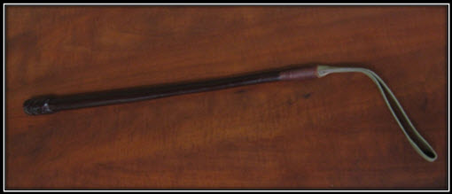 Photograph of a RCMP riding crop (Source of photo - Ric Hall's Photo Collection).