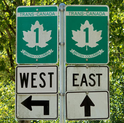 Photograph of Canada Trans Canada signs (Source of photo - Sheldon Boles)