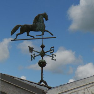 Photograph of wind vane at the Pacific Riding For Developing Abilities (Source of photo - Sheldon Boles).