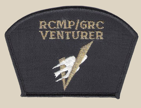 Photograph of a RCMP Venturer badge of Scouts Canada.