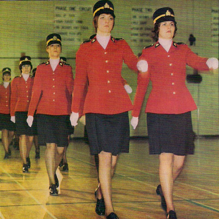 Photograph of members of Troop #17 - first female members in the Force (Source of photo - Ric Hall's Photo Collection).