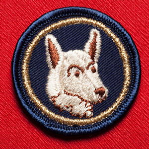 Photograph of an RCMP Police Service trade badge (Source of photo - Laird Allan).