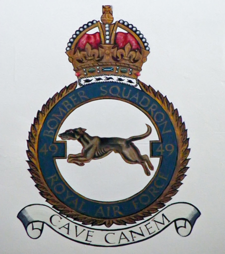 Photograph of insignia of the No.49th Squadron RCAF.