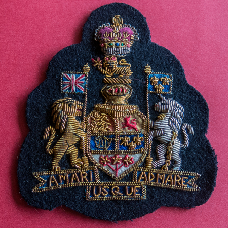 Photograph of the RCMP Corps Sergeant Major rank badge (Source of photo - Sheldon Boles).