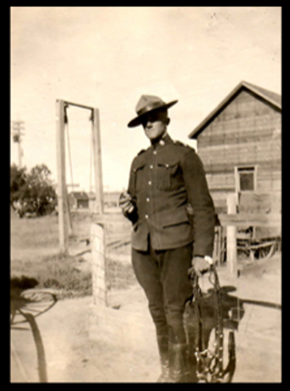 Photograph of RCMP member Frank Parker (Source of photo - Ric Hall's Photo Collection).