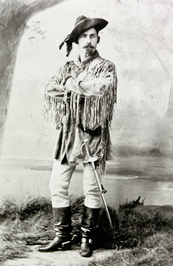 Photograph of NWMP Superintendent James Morrow Walsh (Source of photo - Library Archives of Canada).
