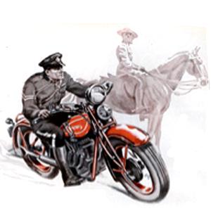RCMP motorcycle advertisement