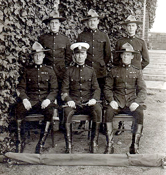 1924 - Photograph of the RCMP Fairmount First Aid Instructors.  (Source of photo -Ione CHRISTENSEN of Whitehorse YT)