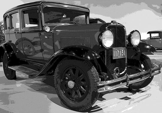 Photograph of an early Saskatchewan car (Source of photo - Sheldon Boles).