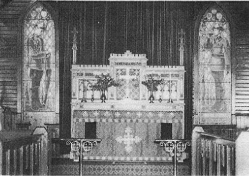 """Early 1960s - Photograph of  the RCMP Chapel at """"Depot"""" Division in Regina (Source of photo - RCMP)."""