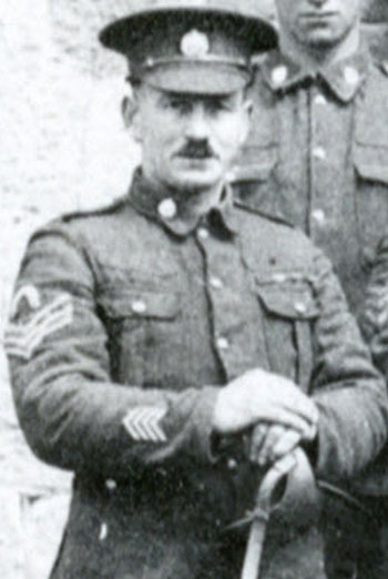 """Photograph of Sergeant Ted Margetts of the """"B"""" Squadron RNWMP - Canadian Siberian Expeditionary Force 1918 to 1919"""