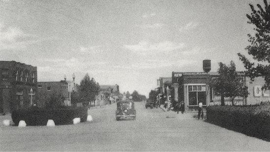 Photograph of Main Street of Melville Saskatchewan.