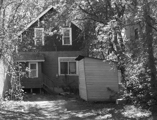 Photograph of the rear of an old Saskatchewan home (Source of photo - Sheldon Boles).