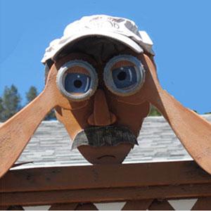 Photograph of a Peeping Tom figure (Source of photo - Sheldon Boles).