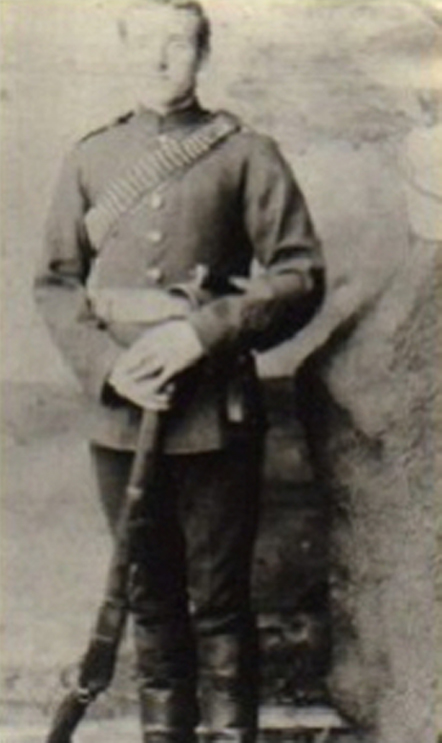 Photograph of NWMP Constable James Marshall (Reg.#1470) (Source of photo - Ric Hall's Photo Collection).