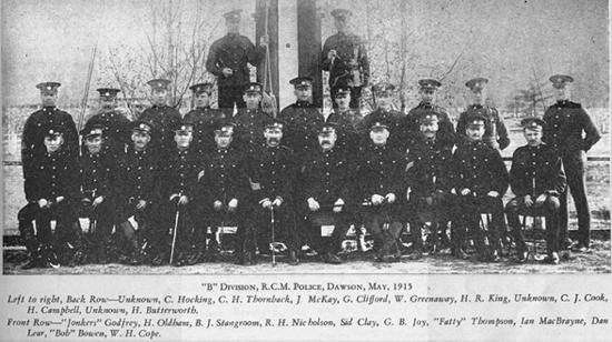 """1915 - Photograph of """"B"""" Division members."""